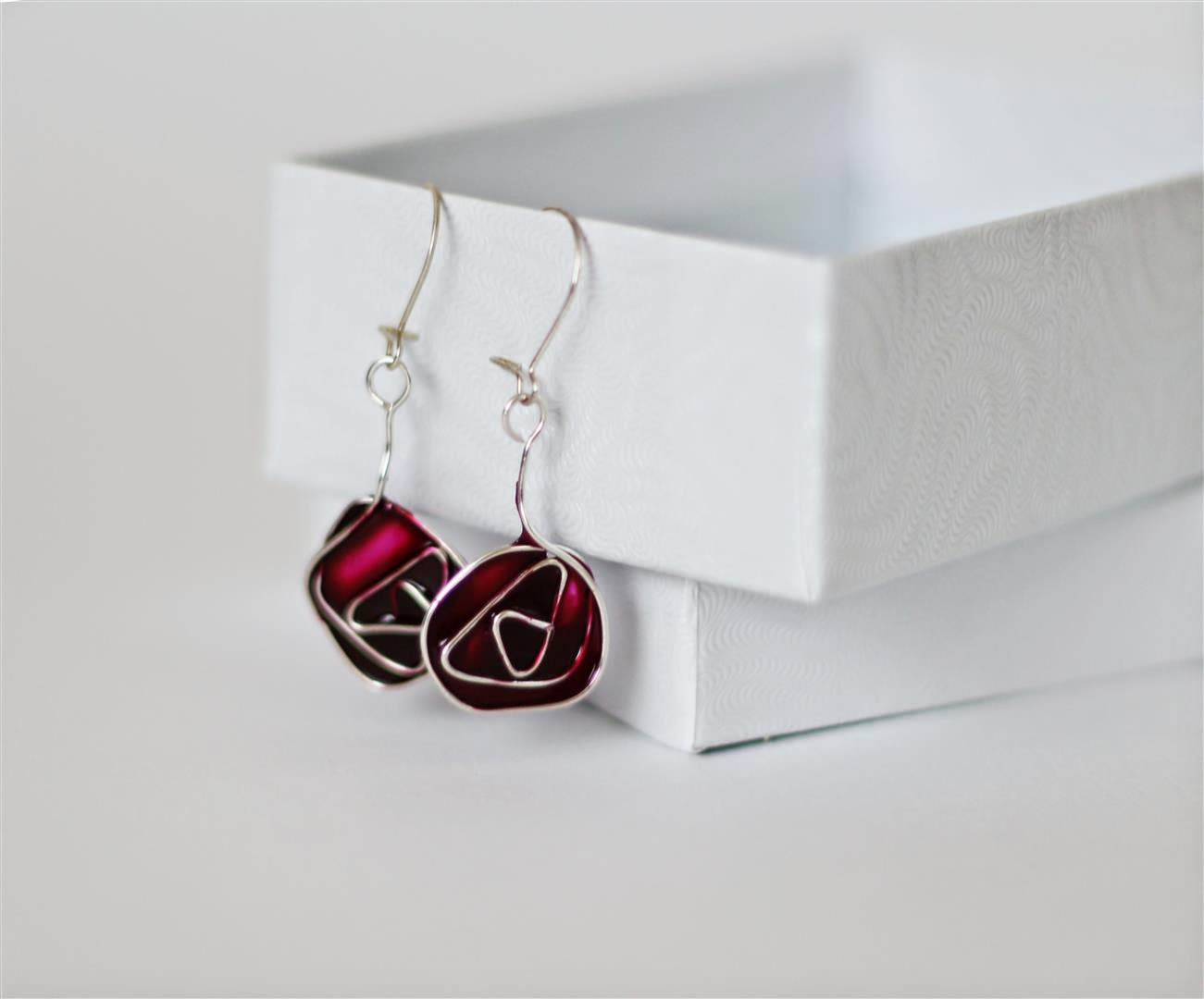 Emuse Stained Glass Glasgow Rose Earrings