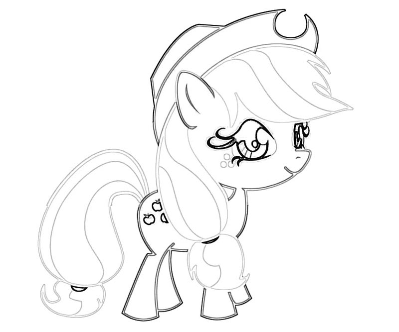 #19 My Little Pony Applejack Coloring Page