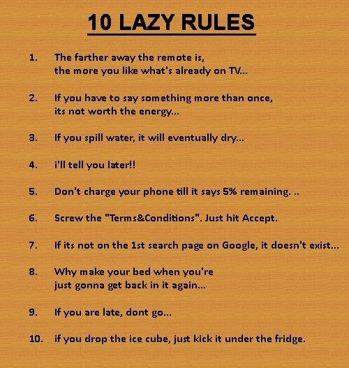 lazy rules 1 100 -#main