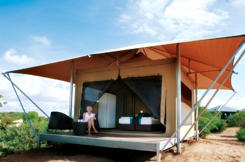 Lou lou pear glamping for Permanent camping tents