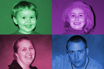 Warhol inspired Family Portrait of A Mothers Ramblings