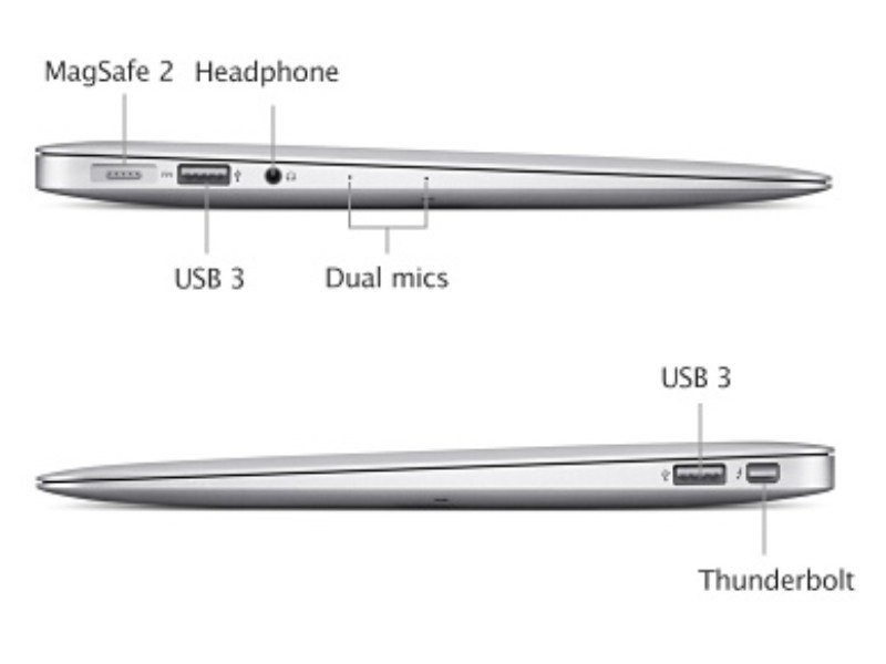 macbook air side view