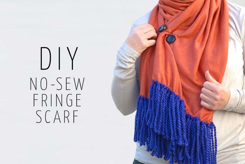 DIY: No-Sew Fringe Scarf