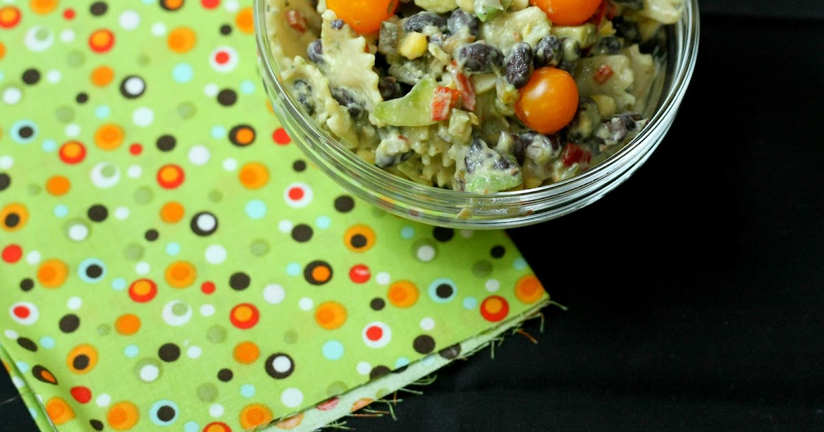 Lynsey Lou's: Southwestern Pasta Salad with Creamy Avocado Dressing