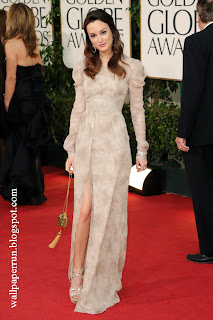 Actress Leighton Meester arrives at the 68th Annual Golden Globe Awards in Beverly Hills