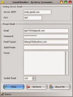 Cara menggunakan Email bomb  prodisi-unpkediri