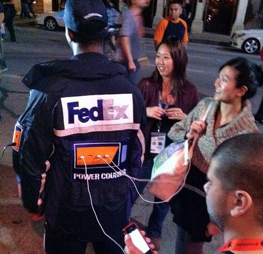 fedex human charging stations, awesome, cool gadgets, win
