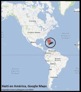 Mapa de Haití en América, Google Maps