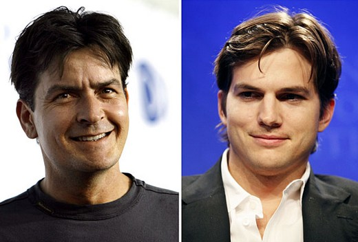 Ashton Kutcher Charlie Sheen Two and a Half Men