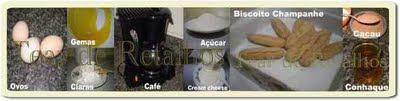 Esses são os ingredientes para um doce maravilhoso, o tiramisù
