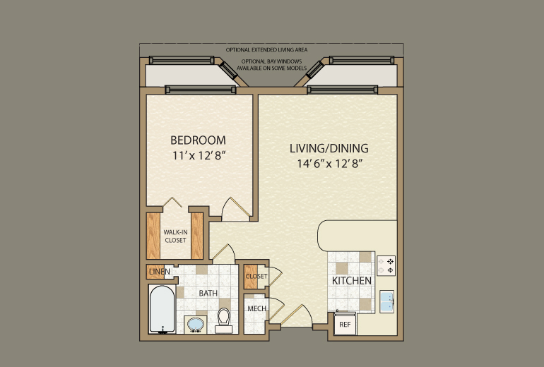 Small 1 Bedroom Cabin Floor Plans