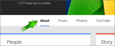 Connect Links on Google plus