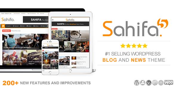 Free Download Sahifa V5.3.1 Responsive WP News, Magazine, Blog Theme
