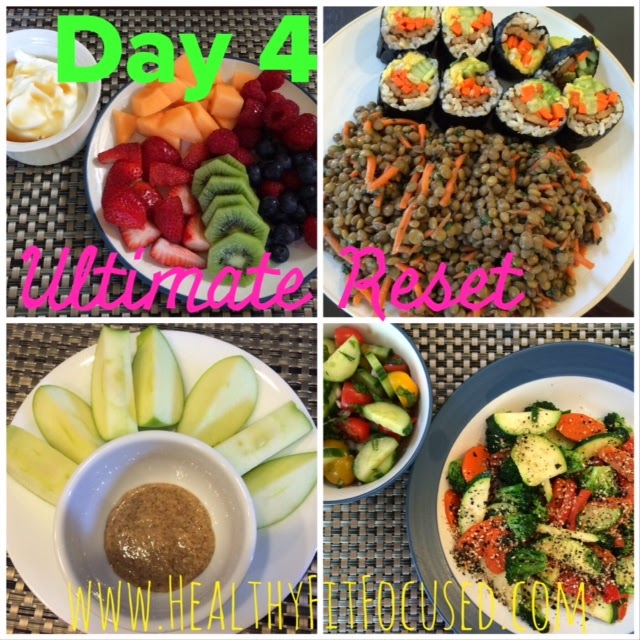 Day 4 Ultimate Reset Meals, www.HealthyFitFocused.com