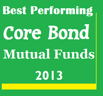 Top Performing Core Bond Mutual Funds 2013