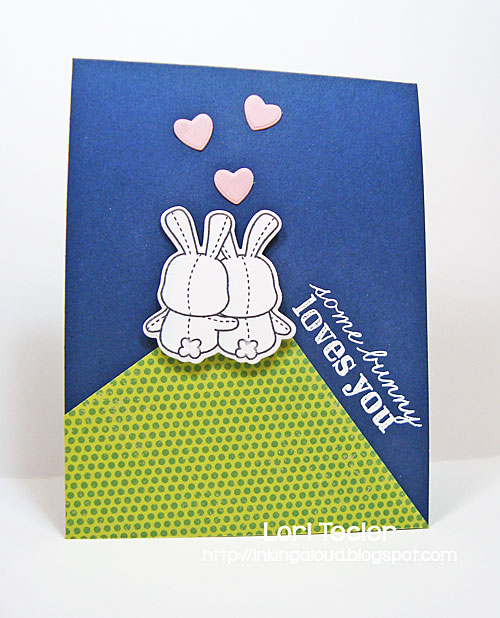 Somebunny Loves You card-designed by Lori Tecler/Inking Aloud-stamps and dies from Mama Elephant