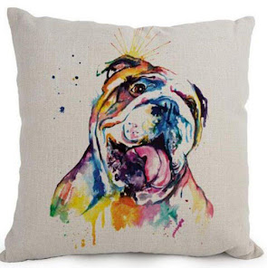 Bulldog and other dog pillow covers
