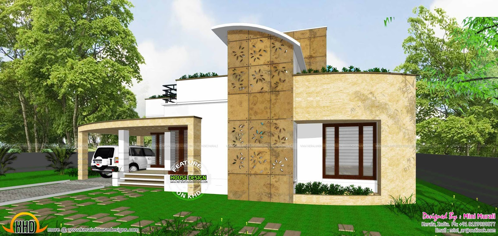 House design outlook - Single Storied 1500 Sqft Home House Facilities
