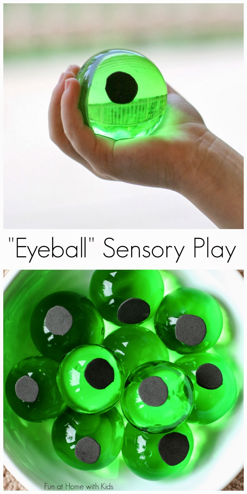 Giant Water BeadsHalloween Eyeball Sensory Bin