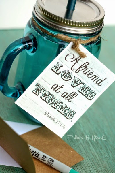 Pitterandglink free printable friendship gift tag mason jar label download these free printable gift tags from pitterandglink freeprintable gifttag negle