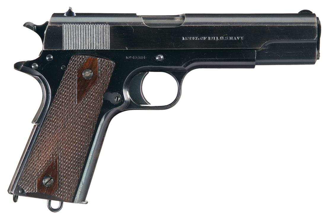 ... Cartridge: .45 ACP(Automatic Colt Pistol) Muzzle Velocity: 835ft/s