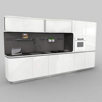 Diseño de Cocina Contemporánea y Futurista |