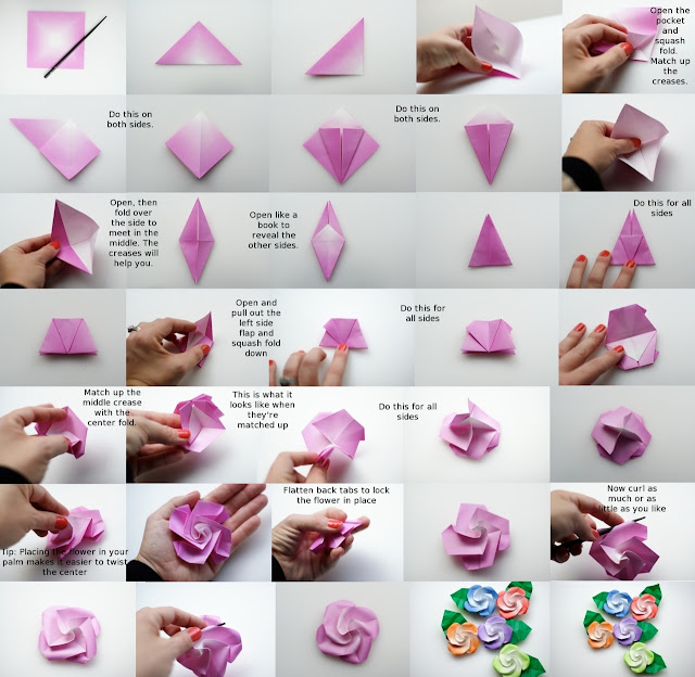 How to Make Origami Roses Step by Step