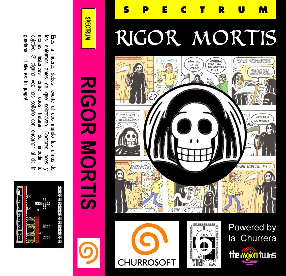 Rigor Mortis, nuevo juego para Spectrum usando la Churrera de los MojonTwins