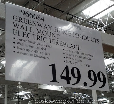 Deal for the Muskoka Curved Wall Mount Electric Fireplace at Costco