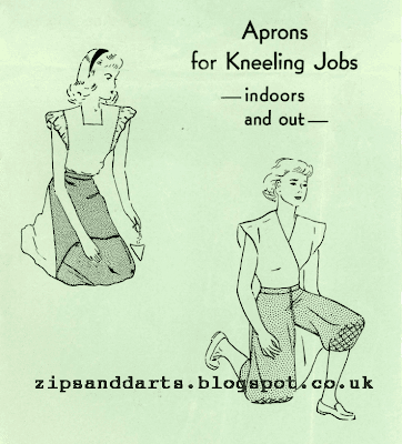 1940's Sewing - Aprons For Kneeling Jobs