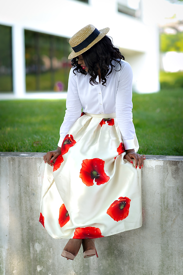 Chicwish poppy blossom maxi skirt