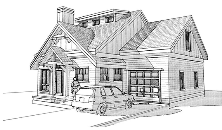Beautiful 4 Bedrooms Small Cottage House Plan Timber
