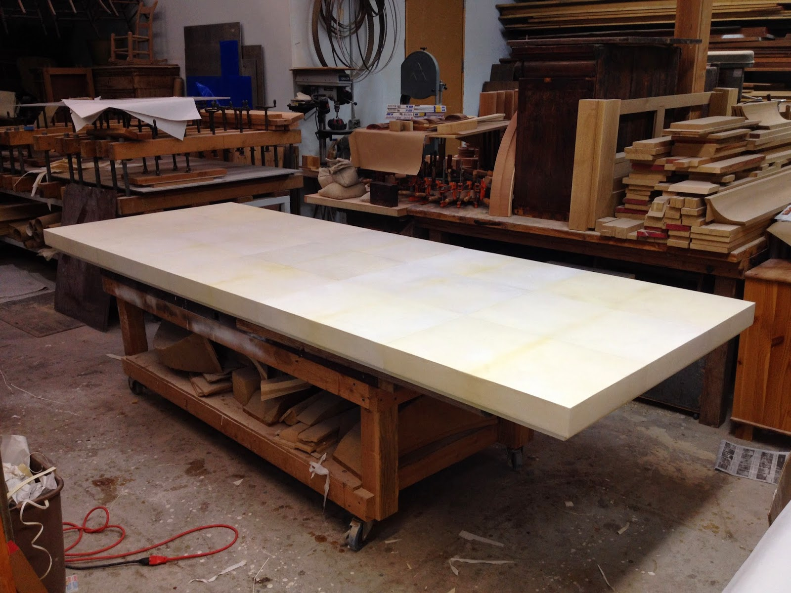 Parchment Covered Table