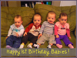 Quadruplets First Birthday