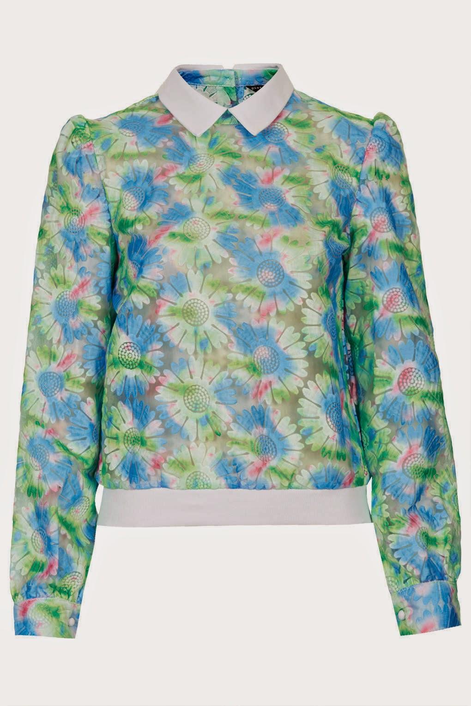 flower print jumper