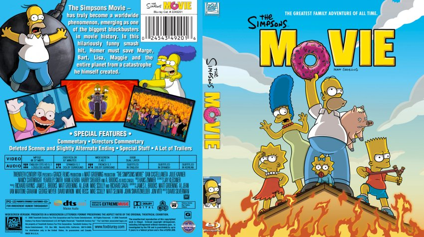 Blu-ray The Simpsons Movie 2007 animatedfilmreviews.filminspector.com
