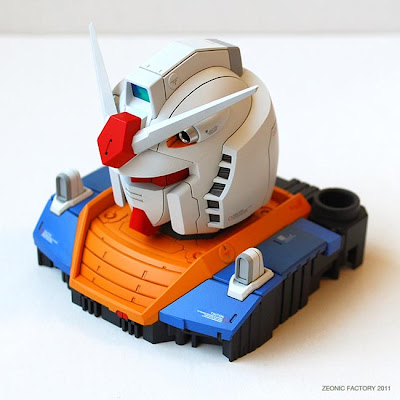 1/48 RX-78-02 Gundam The Origin Head Model by YAS