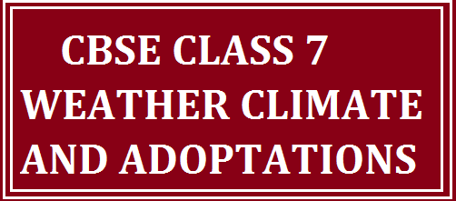 weather climate and adaptation cbse class 7 cbse 2015 results