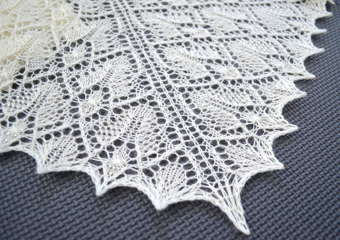 Knitting Pattern Lace Design : LaceKnit Designs: Pattern: Precious Lace Shawl