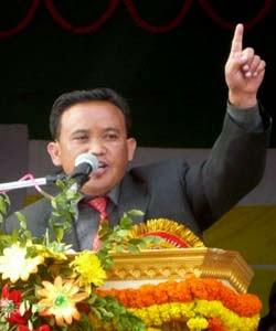 Priyabardan Rai, general secretary Gorkha Janmukti Yuva Morcha