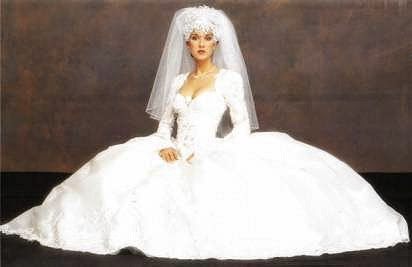 Vestido de novia de Celine Dion