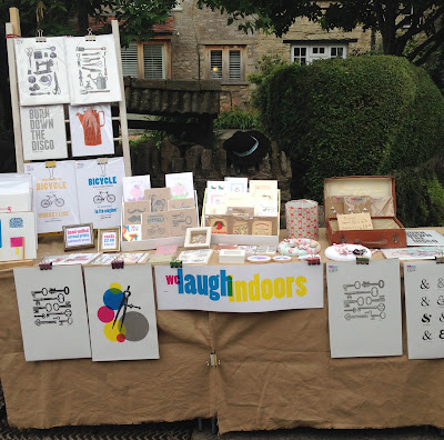 welaughindoors stall at Nunney Fayre 2015