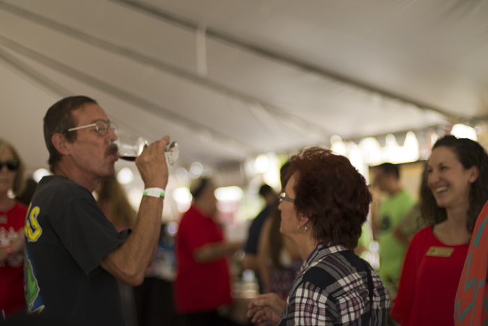texas reds festival wine tent