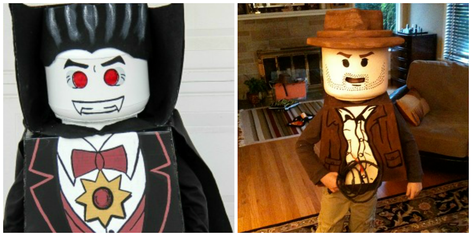 LEGO INDIANA AND VAMPIRE COSTUME DIY / DISFRAZ TUTORIAL
