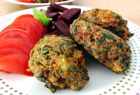 Buñuelos de acelga para veganos y vegetarianos