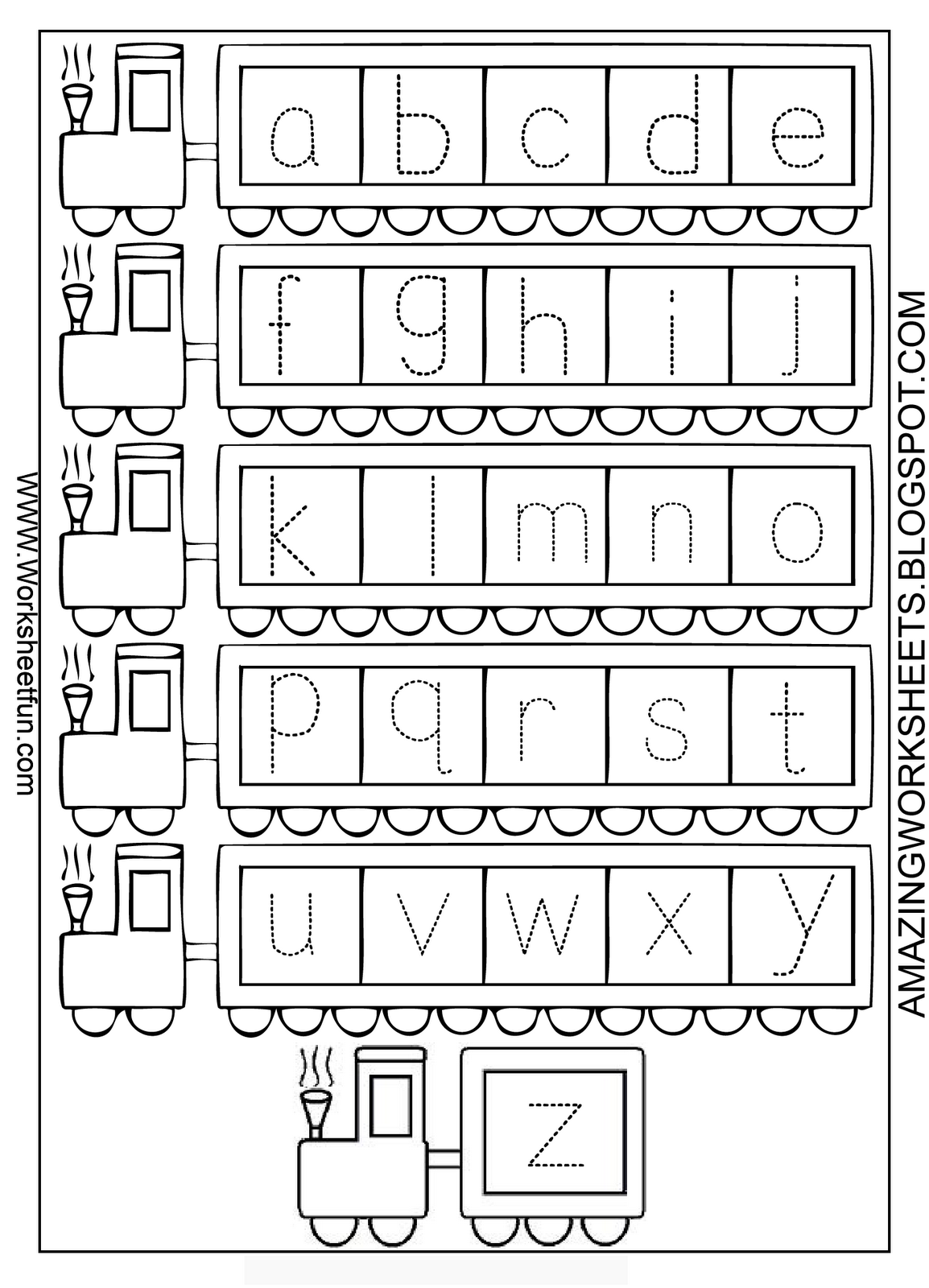 Kindergarten Abc Tracing Worksheets abc traceable worksheets – Free Abc Worksheets for Kindergarten