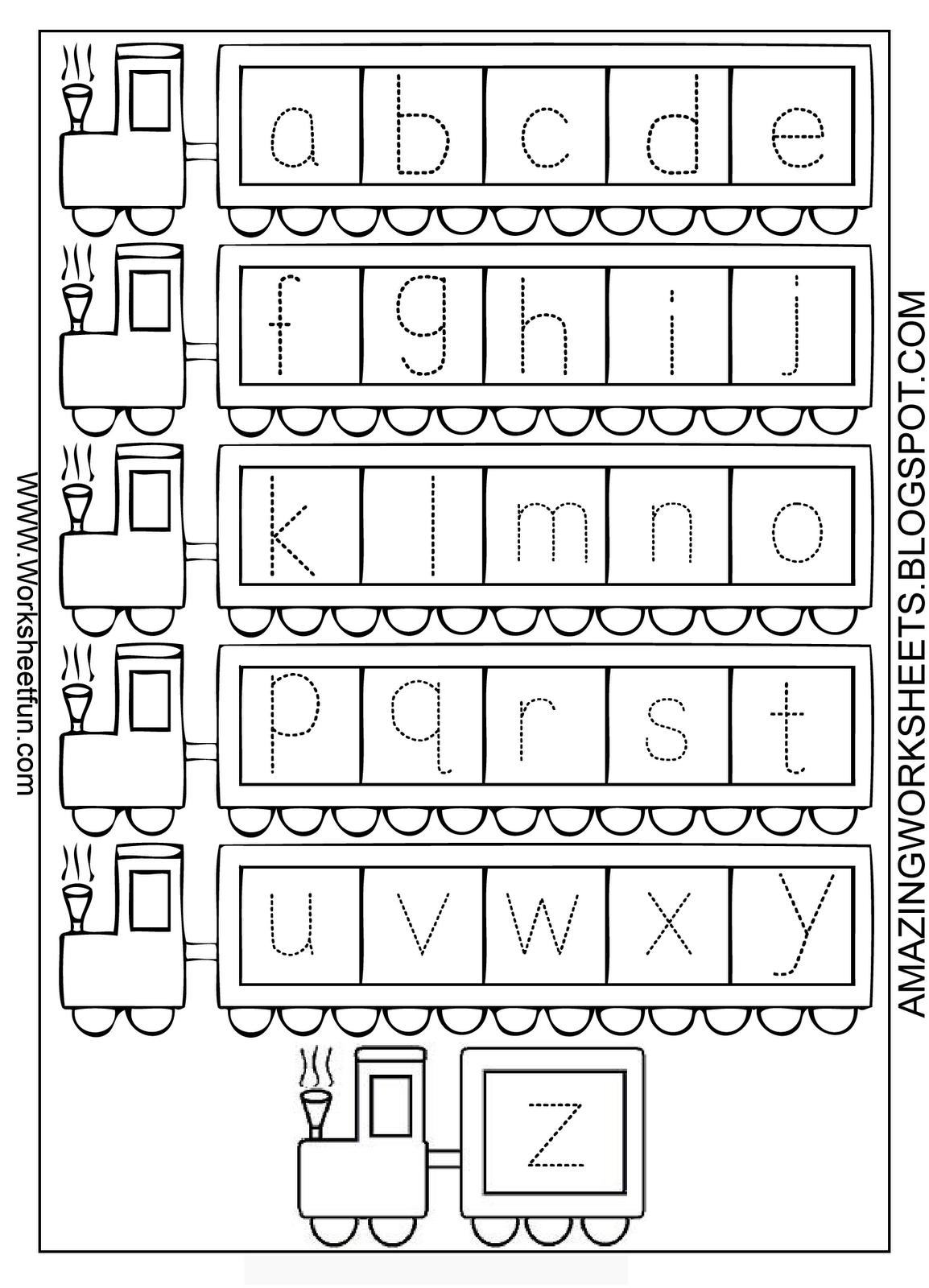 Printable Alphabet Worksheets A Z : Lowercase alphabet letter tracing worksheets