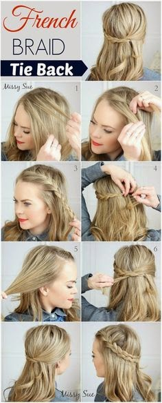 French Braid Tie Back