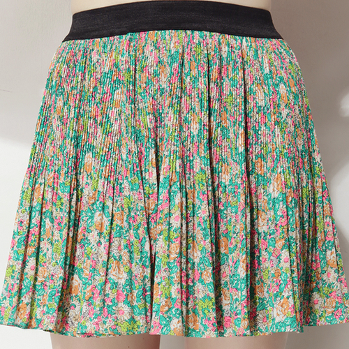 Polly Pleats Floral Skirt