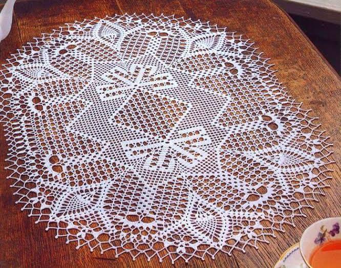 Crochet Home Oval Doily